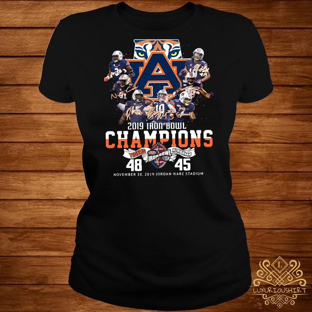 2019 Iron Bowl Champions 2019 Auburn Tigers Alabama Ladies Tee