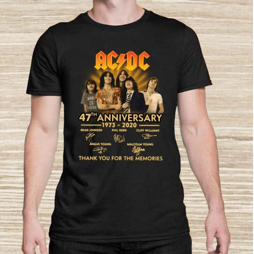 ACDC 47th Anniversary 1973-2020 Thank You For The Memories Unisex