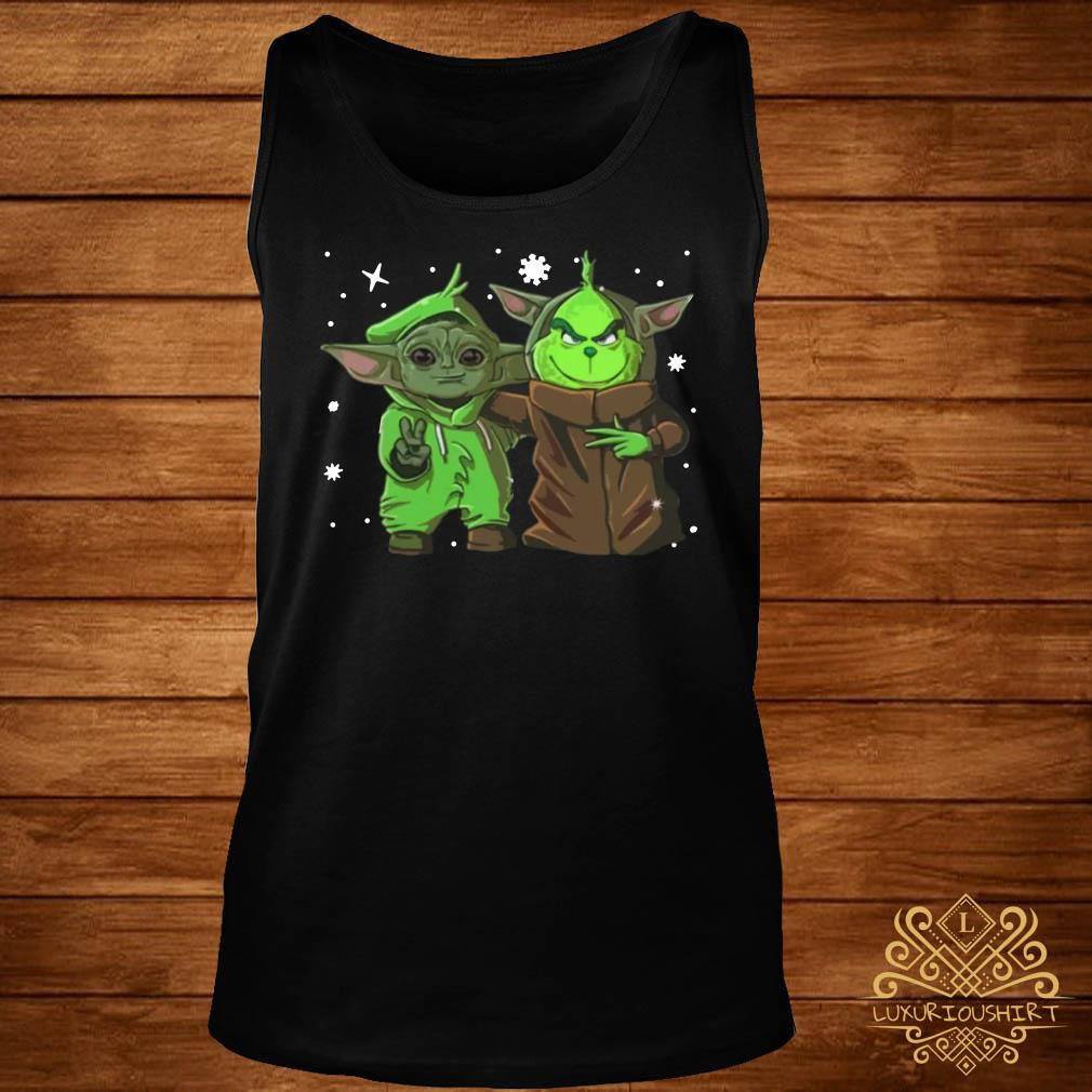 Baby Yoda And Baby Grinch Christmas tank-top