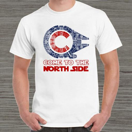 Come To The North Side Star Wars Millennium Falcon Chicago CUBS Unisex