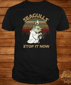 Yoda Seagulls Stop It Now Sunset Shirt