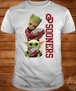 Baby Groot And Baby Yoda Hug Oklahoma Sooners Shirt
