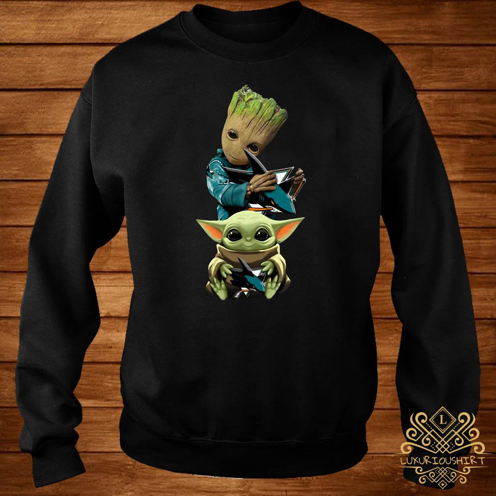 Baby Groot And Baby Yoda Hug Philadelphia Flyers Sweater