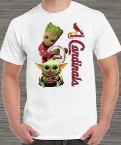 Baby Groot And Baby Yoda Hug St. Louis Cardinals Unisex