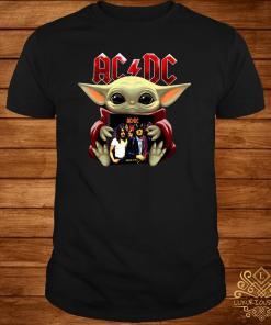 Baby Yoda Hug ACDC Shirt