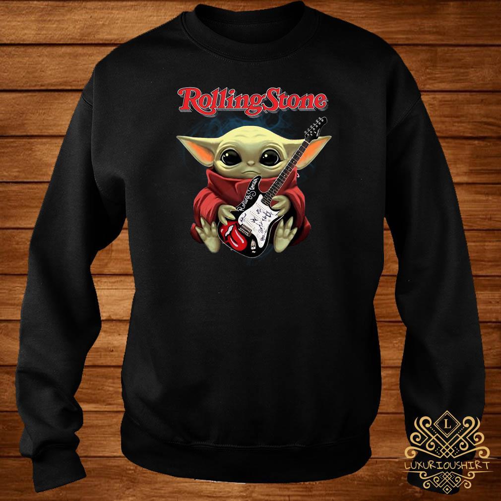 Baby Yoda Hug Rolling Stone Guitar Sweater