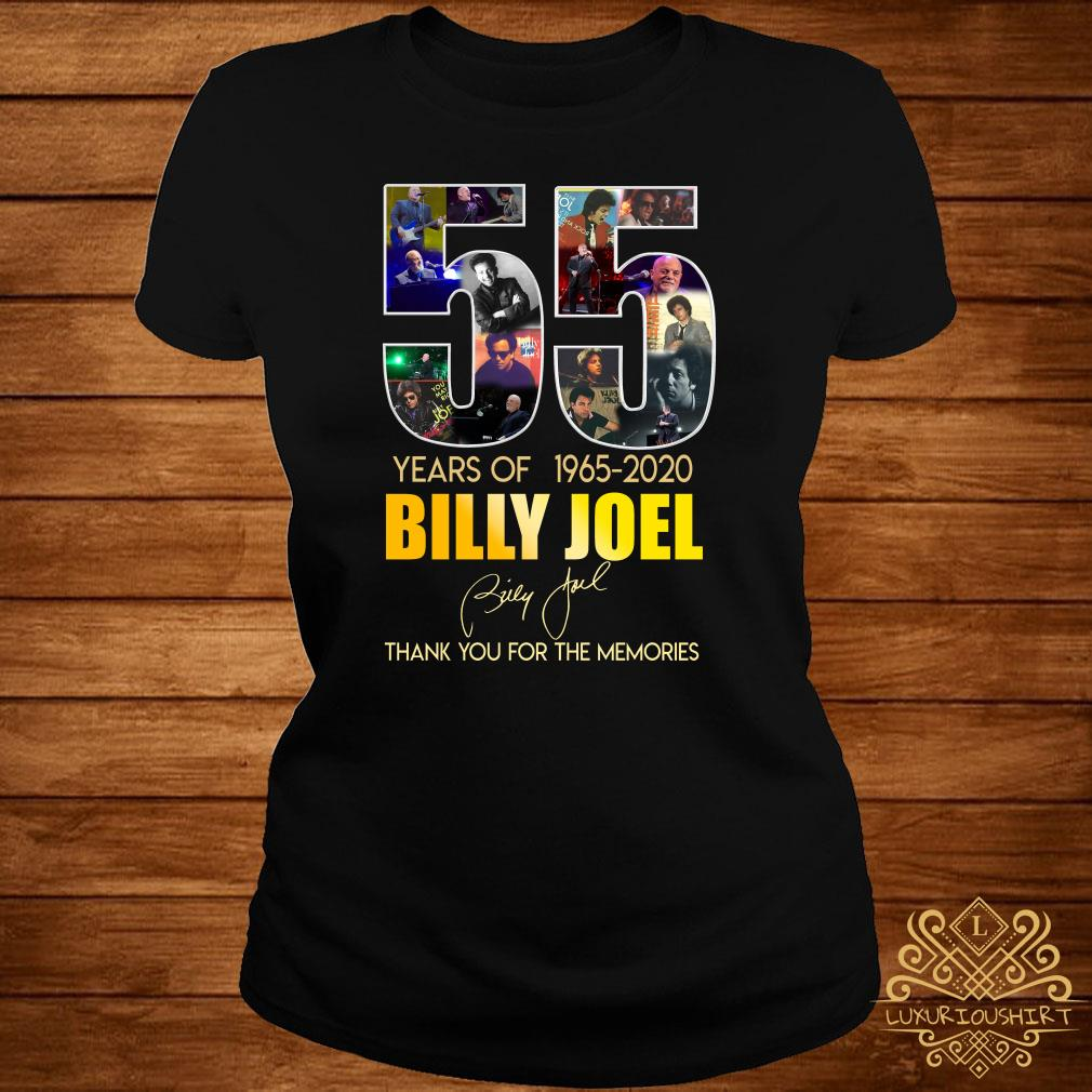 55 Years Of 1965 2020 Billy Joel Thank You For The Memories ladies Tee