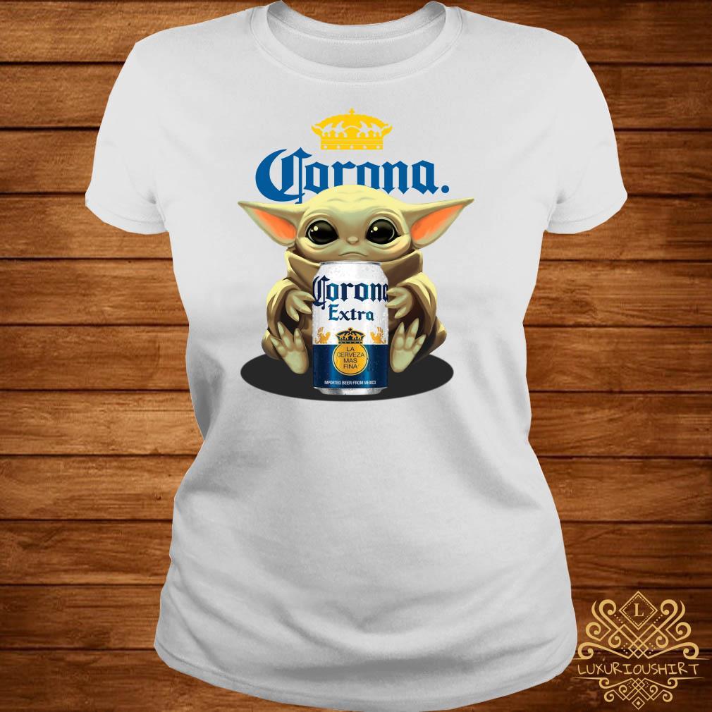 Baby Yoda Hug Corona Extra Ladies Tee