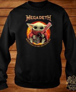 Baby Yoda Hug Megadeth Guitar Killing My Business Sweater