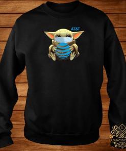 Baby Yoda Mask Hug AT&T Sweater