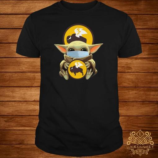 Baby Yoda Mask Hug Buffalo Wild Wings Shirt