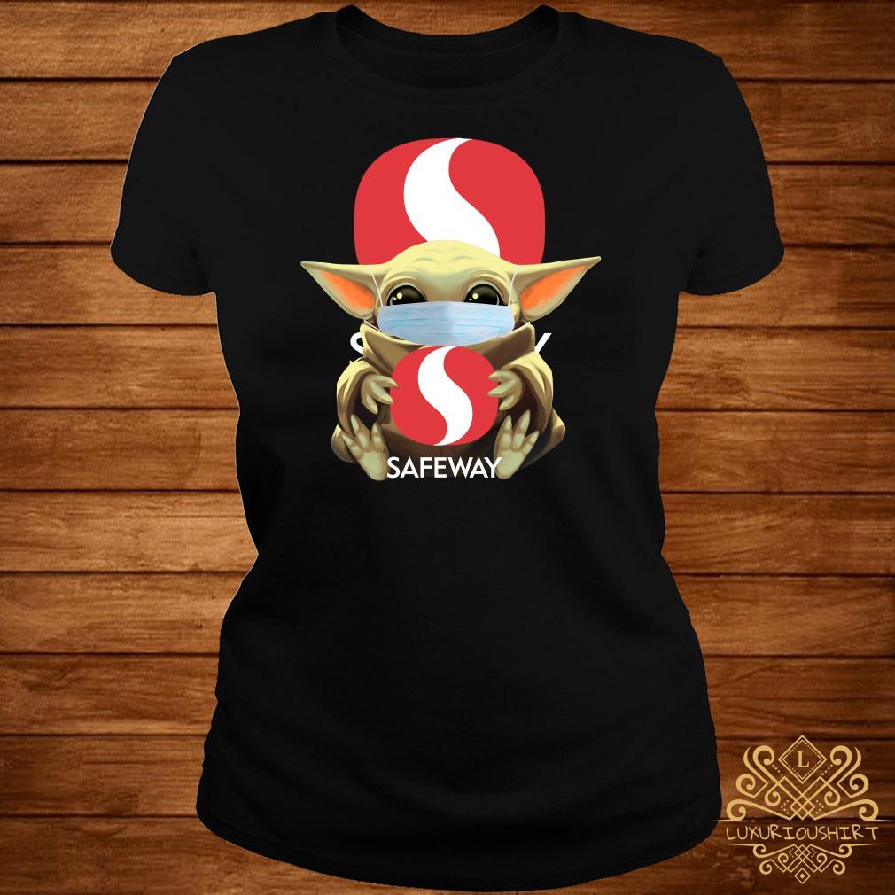 Baby Yoda Mask Hug Safeway Ladies Tee