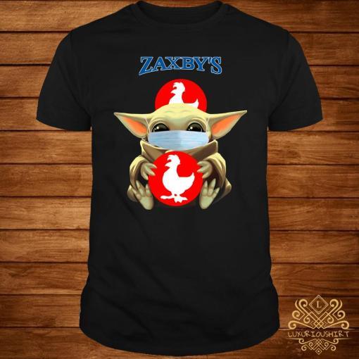 Baby Yoda Mask Hug Zaxby's Shirt