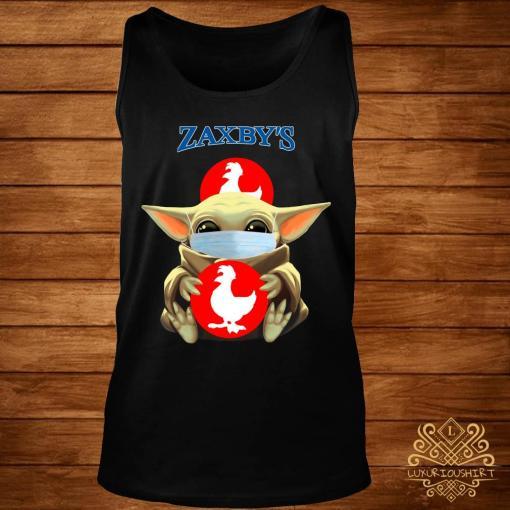 Baby Yoda Mask Hug Zaxby's Shirt tank-top