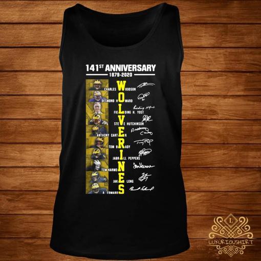 141st Anniversary 1879 2020 Wolverines Charles Woodson Desmond Howard Fielding Shirt tank-top