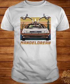 Baby Yoda And Mandalorian Driving Vintage Shirt