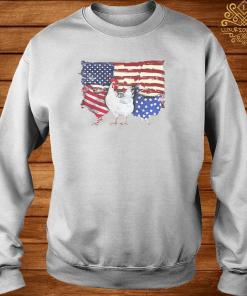 Chicken Flag USA American Flag Veteran Shirt sweater