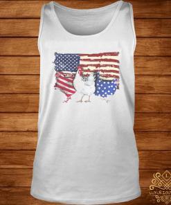 Chicken Flag USA American Flag Veteran Shirt tank-top