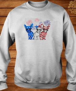 Chihuahua Blue White And Red American Flag Shirt sweater