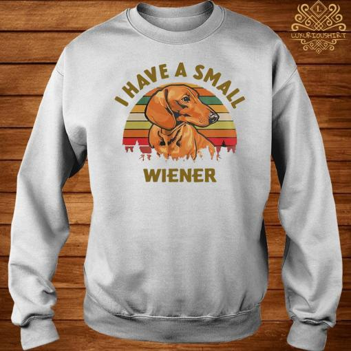 Dachshund I Have A Small Wiener Vintage Shirt sweater