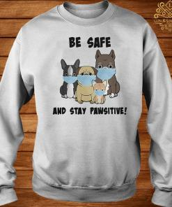Dog Mask Be Safe And Stay Pawsitive Shirt sweater