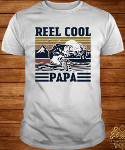 Father's Day Reel Cool Papa Fishing Vintage Shirt