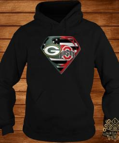 Green Bay Packers And Ohio State Superman Shirt hoodie