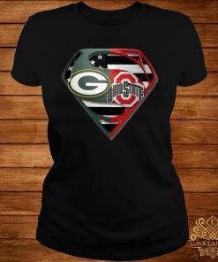Green Bay Packers And Ohio State Superman Shirt ladies-tee