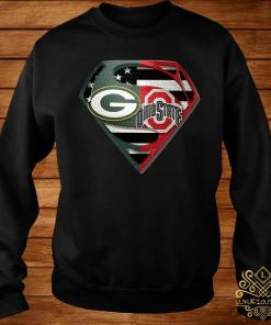 Green Bay Packers And Ohio State Superman Shirt sweater