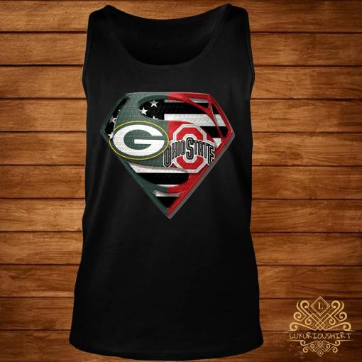 Green Bay Packers And Ohio State Superman Shirt tank-top