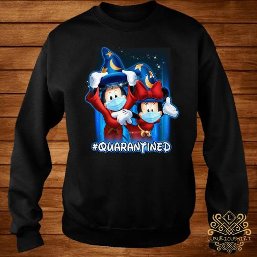 Mickey And Minnie Mouse Mask Fantasia Quarantined Shirt sweater