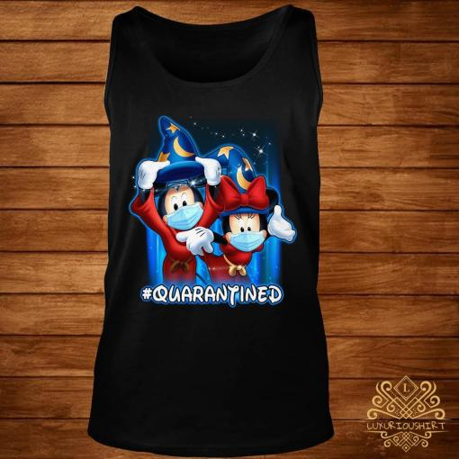 Mickey And Minnie Mouse Mask Fantasia Quarantined Shirt tank-top