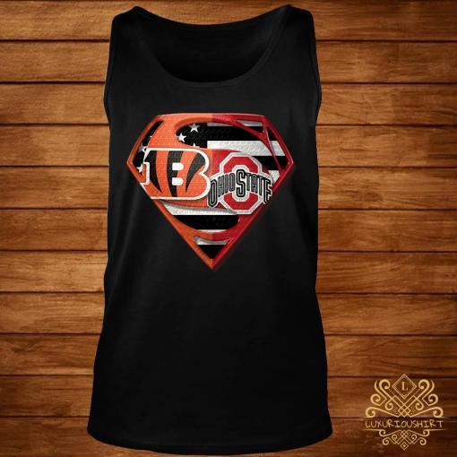 Ohio State Buckeyes And Cincinnati Bengals Superman Shirt tank-top