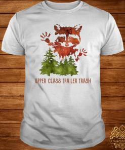 Raccoon Upper Class Trailer Trash Watercolor Art Shirt