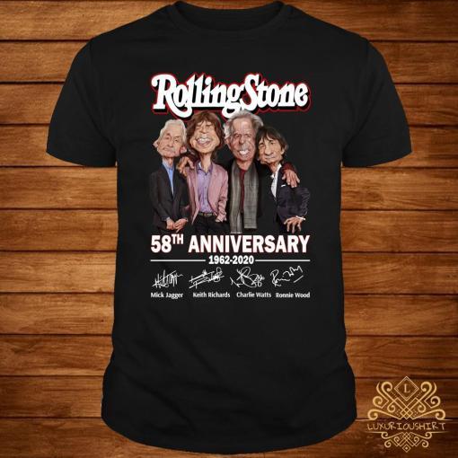 Rolling Stone 58th Anniversary 1962 2020 Signatures Shirt