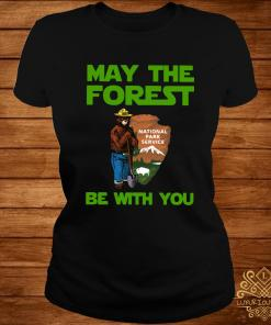 Farmer Bear May The Forest Be With You Shirt ladies-tee