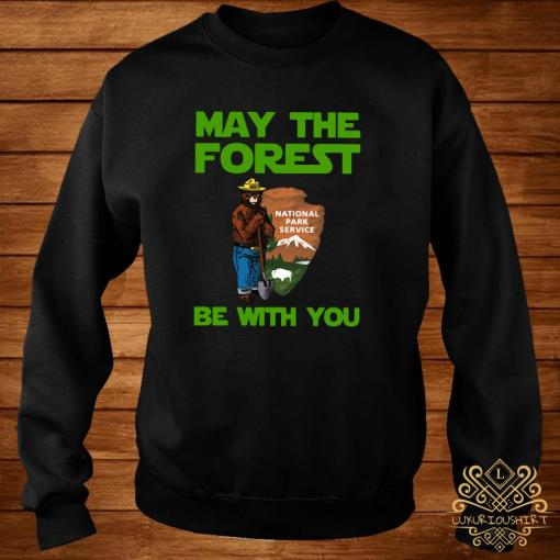 Farmer Bear May The Forest Be With You Shirt sweater