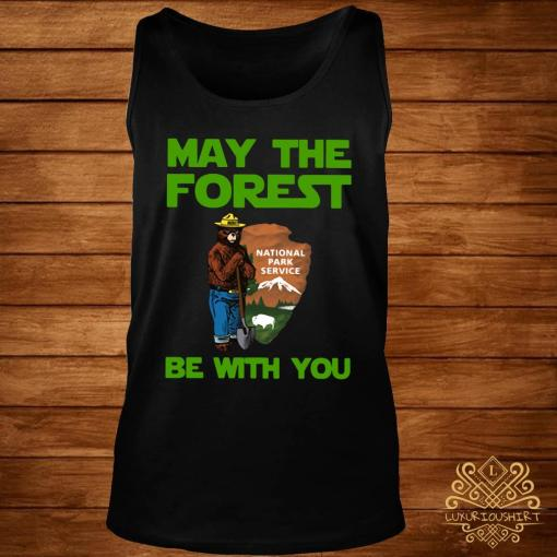 Farmer Bear May The Forest Be With You Shirt tank-top