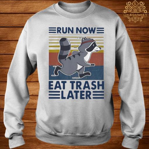 Run Now Eat Trash Later Vintage Shirt sweater