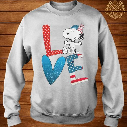Snoopy Love American 4th Of July Shirt sweater