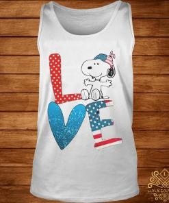 Snoopy Love American 4th Of July Shirt tank-top