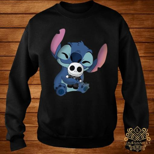 Baby Stitch Hug Baby Jack Skeleton Shirt sweater