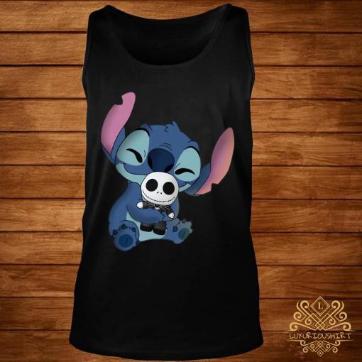 Baby Stitch Hug Baby Jack Skeleton Shirt tank-top