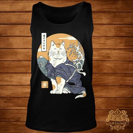 Cat Samurai Shirt tank-top
