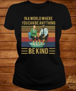 Mister Rogers Gay Police In A World Where You Can Be Anything Bekind Vintage Shirt ladies-tee