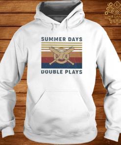 Baseball Summer Days Double Plays Vintage Shirt hoodie