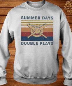 Baseball Summer Days Double Plays Vintage Shirt sweater