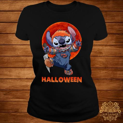 Stitch Halloween Shirt ladies-tee