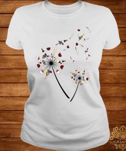 Wine Dandelion Flower Shirt ladies-tee