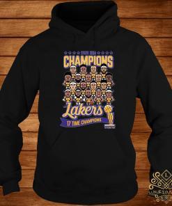 2020 NBA Champions Lakers 17 Time Champions Shirt hoodie